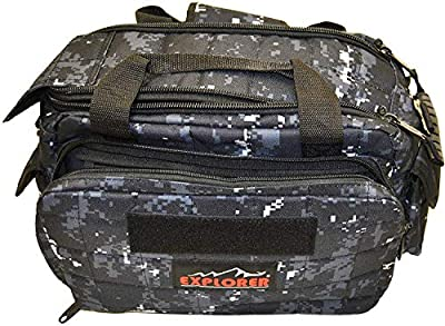 Explorer 8 Pistol Tactical Range Go Bag Assault Gear Hiking EDC Camera Bag MOLLE Modular Deployment Compact Utility Military Surplus Gear (Dark Camo Black Bag)