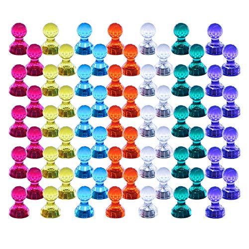 Push Pin Aimants, Lot de 60 couleurs assorties punaises magnétique solide, parfait Aimants pour tableau blanc, réfrigérateur, carte et calendrier Magenesis®