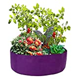 ACJRYO 15Gallon Fabric Raised Garden Beds Non-Woven Round Raised Planter Grow Bag Planter Containers for Flowers Vegetables Plants