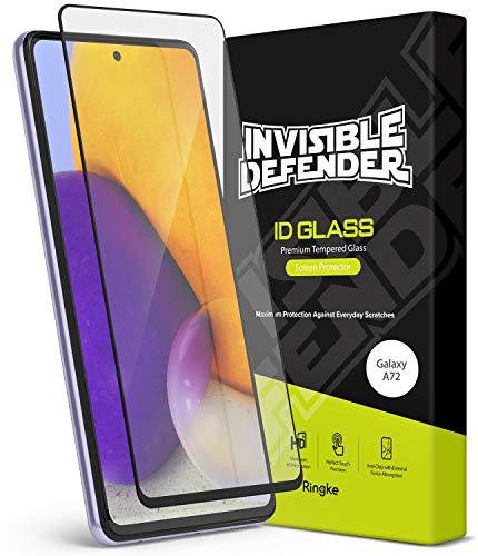 Ringke ID Glass Compatible con Protector Pantalla Samsung Galaxy A72 (6,7 Pulgadas) Cristal Templado Protector de Pantalla