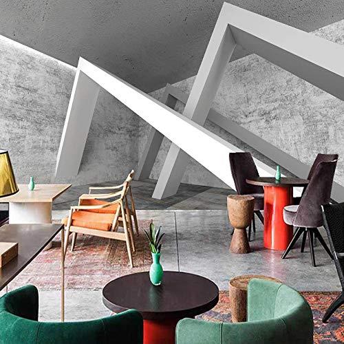 3D Tapeten,Benutzerdefinierte Fototapete Für Wände Graues Zementwandgebäude 3D Abstrakter Raum Hintergrund Wohnzimmer Sofa Schlafzimmer Tapete Wandbild,400 * 280Cm