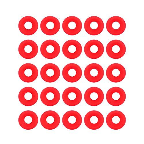 VIFERR Weck Gummiringe Silikon Grolsch - 25 Stück Silikon Grolsch Dichtungen für Swing Flip Top Flaschendichtung Bierflaschendichtungen (Rot)