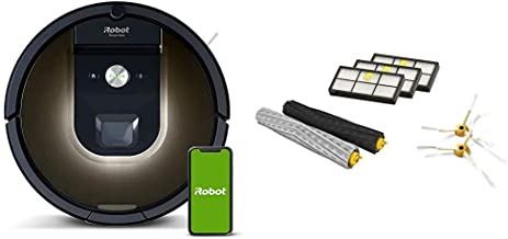 iRobot Roomba 981 Robot Vacuum-Wi-Fi Connected Mapping, Works with Alexa iRobot Authentic Replacement Parts- Roomba 800 an...