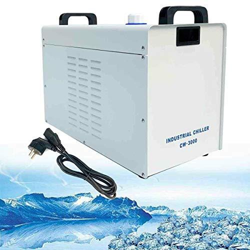 SUDEG Industriewasserkühler CW-3000 Wasserkühler- | 9L Tank | 10 l/min | für CO2 Laserrohr Graviermaschine CNC Spindelkühlung Graviermaschinenkühlung