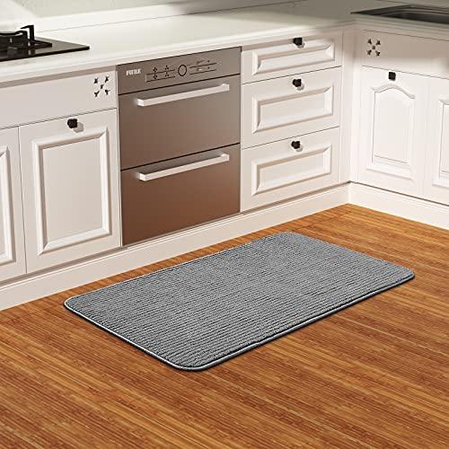 Color&Geometry Alfombra de Cocina 44x100cm.Alfombra Cocina Lavable Antideslizante,Alfombrilla Cocina,alfombras para Cocina,Pasillo,Entrada,Alfombra de Comedor.(Gris)