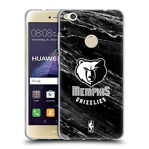 Head Case Designs Oficial NBA B&W Marble Memphis Grizzlies Carcasa de Gel de Silicona Compatible con Huawei P8 Lite (2017)
