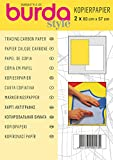 Burda 2Gcar-Papel de carbono para calcar (83 x 57 cm, 2 hojas), color amarillo y blanco, T...