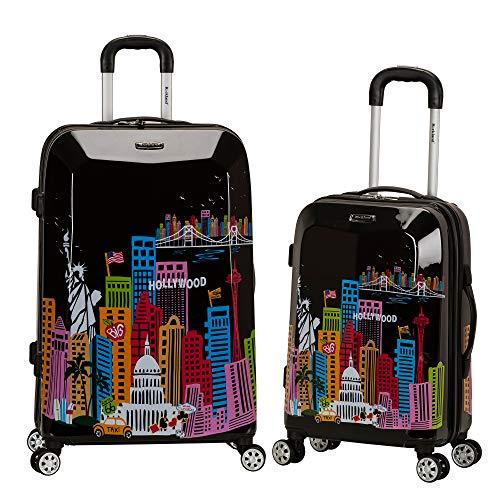 Rockland Departure Hardside Spinner Wheel Luggage Set, America, 2-Piece (20/28)