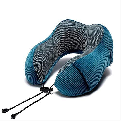 yywl Almohada cervical sólida en forma de U de espuma viscoelástica para terapia de campo magnético de viaje, reposacabezas para oficina, coche o siesta