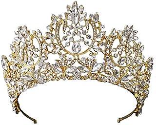 Best Gift New Wedding Hair Accessories Crystal Tiara For Brides Crown Gold Head Piece Brida
