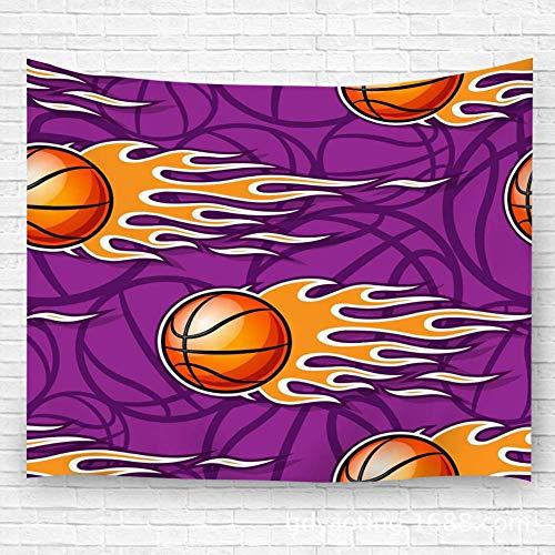 Leisure-Time Palle da Basket da Parete con arazzo e Fiamme Hotrod Coperta Ideale da Appendere per Decorazione da Parete 60 'X80'