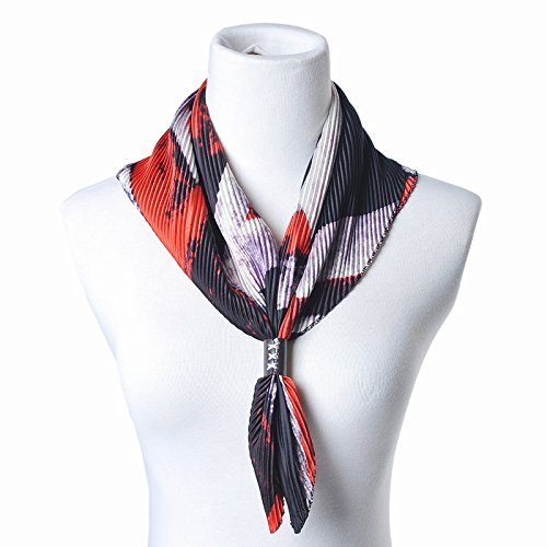 YRXDD Folded Petit carré étalon d'été écharpes imprimées en Paquet Long Mme Spring and Autumn Scarf (53 * 57cm), 3 Couleurs