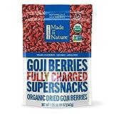 Made in Nature | Organic Sun Dried Goji Berries | Non-GMO, Unsulfured Vegan Snack | 20oz Bag (Pack...