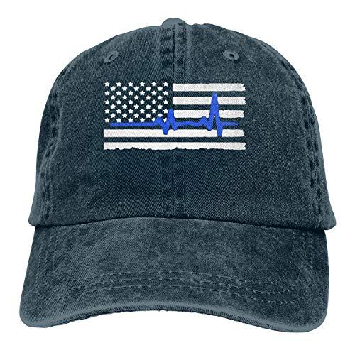 CVDGSAD Mapa de la Bandera del Estado de Hawái Unisex Personalizar Gorra de béisbol Ajustable con Sombrero para el Sol de Mezclilla