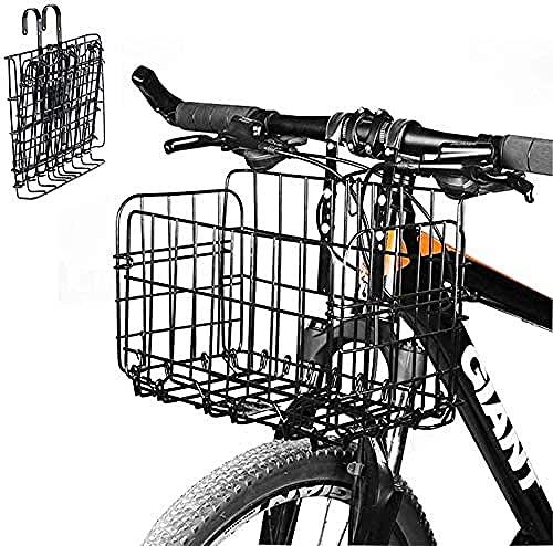 Vooraan achter vouwdraad fietsmand - mesh opklapbare achterkant opknoping fiets mand fietstas vracht rack mountainbike accessoires voor opknoping fietsmand student/montage/outdoor camping/p