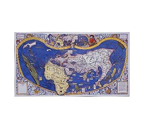 Waldseemüller's Weltkarte von 1507 (Digitaldruck)