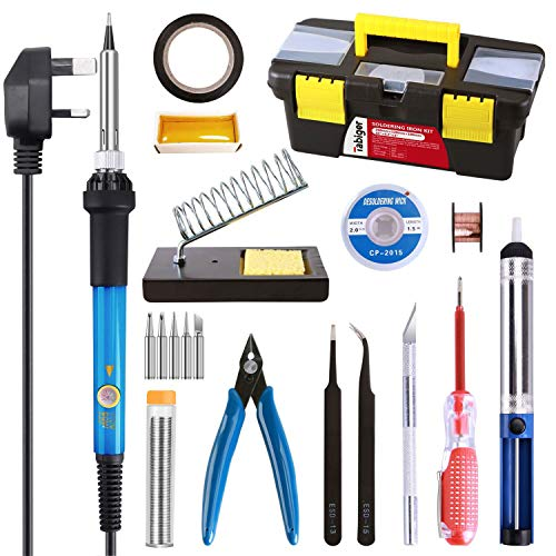 TABIGER Soldering Iron Kit, Upgraded 21-in-1 Soldering Iron Welding...