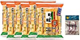 Want-Want Senbei Rice Crackers 112g 3.95 oz (Pack of 6) Bundle with PrimeTime Direct 20ct Dental Flossers in a PTD Sealed Bag