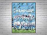 Póster de Manchester City Premier League Winners Champions 2020 2021 firmado impreso A4