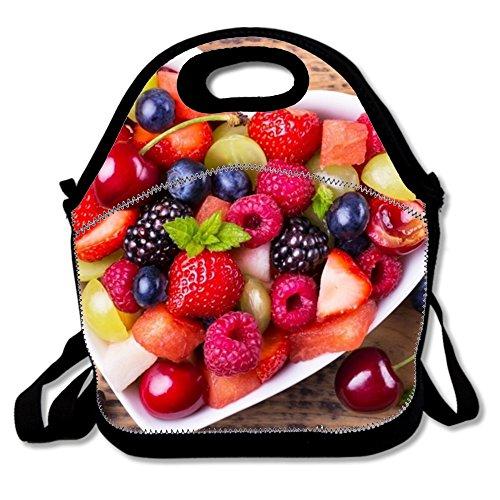 Sac repas isotherme Sac Fruit02 réutilisable en néoprène – Portable Boîte à lunch Sac à main pour homme femme adulte One size Fruits Salad2