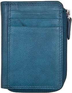ili New York 7411 Leather Credit Card Holder (Jeans Blue)