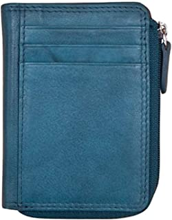 ili New York 7411 Leather Credit Card Holder (Jeans Blue)