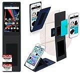 Hülle für Archos 55 Diamond Selfie Tasche Cover Hülle Bumper   Blau   Testsieger
