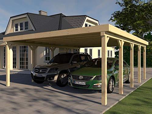 Prikker Carport Flachdach Montreal XXVII 600x730 cm Bausatz Leimbinder Fichte