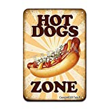 Hot Dogs Zone Iron Poster Painting Tin Sign Vintage Wall Decor for Cafe Bar Pub Home Beer Decoration Crafts