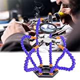 Yongenee Lötkolben helfende Halter, 6Pcs Nylon Arme Printed Circuit Board Reparatur-Werkzeug mit...