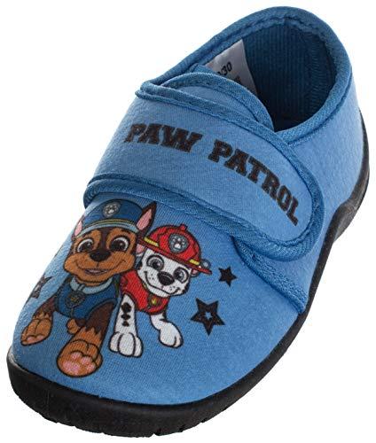 Brandsseller Jungen Hausschuh Spielschuh mit Motiven im Stil von Paw Patrol (Hellblau, 27)