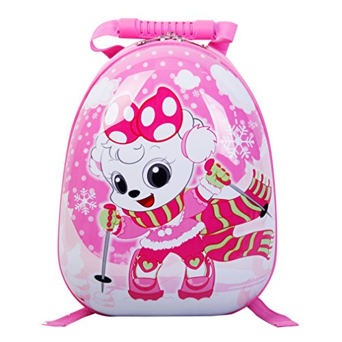 SMJM - Mochila infantil Bebé-Niñas Niñas Bebé-Niños Niños rosa Pink skiing S