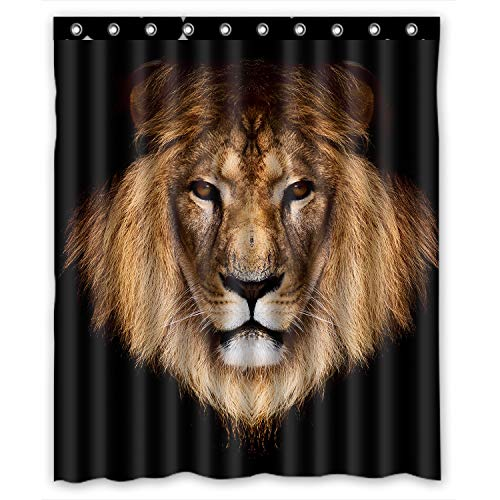 FMSHPON Lion Waterproof Polyester Fabric Shower Curtain 60 x 72 Inches