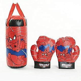 Spiderman Kids Mini Boxing Punching Bag Set with Gloves