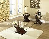 Cafe 3-Piece Occasional Table Set Espresso
