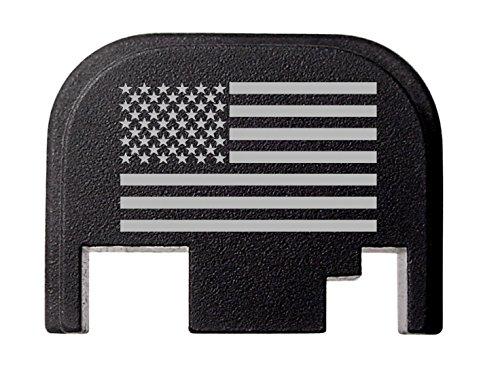 NDZ Performance for Glock 17 19 21 22 23 27 30 34 36 41 Rear Plate Blk G1-4 US Flag