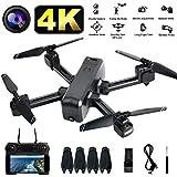 LENDGO Drohne mit HD 4K Kamera für Erwachsene, RC Quadrocopter Faltdrohne für Anfänger,Dual Kamera Drone mit WiFi FPV Live-Video Übertragung,APP Handy Steuerung,Headless-Modus,Follow Me
