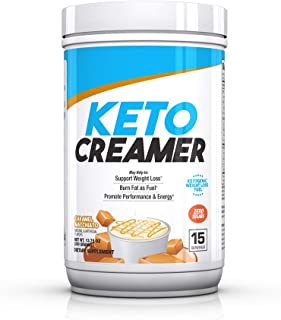 BPI Sports Keto Creamer – Ketogenic Coffee Creamer – Electrolytes, MCTS, 10g Healthy Fats – Supports Ketosis, Energy, Appetite Control – for Men & Women – Caramel Macchiato – 15 Servings