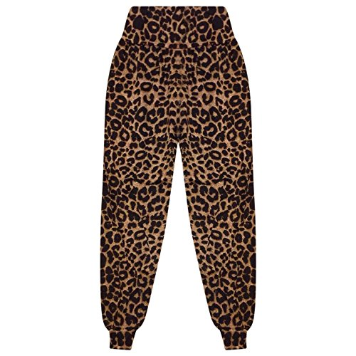 A2Z 4 Kids® Bambini Ragazze Ali Baba Stile Plain Colore - Ali Baba Trouser Leopard 9-10