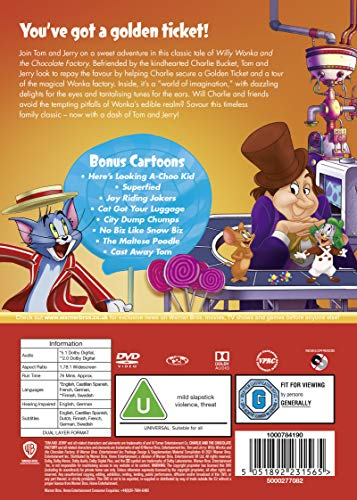 Tom and Jerry: Willy Wonka & The Chocolate Factory [New line look] [DVD] [2017]