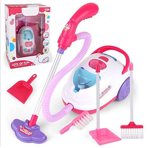 belupai Haushaltsspielzeug Reinigungsset – Pretend Play Reinigungsspielzeug inklusive Elektro-Staubsauger, Besen, Bürste, Mülleimer, Schaumstoffbälle – Spielzeug Haushalts-Set für Kinder