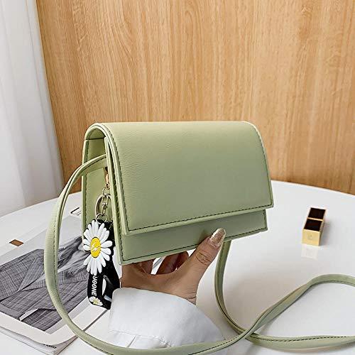Mini bolso de moda de verano pequeño bolso de mensajero de margarita mujer salvaje ins-verde