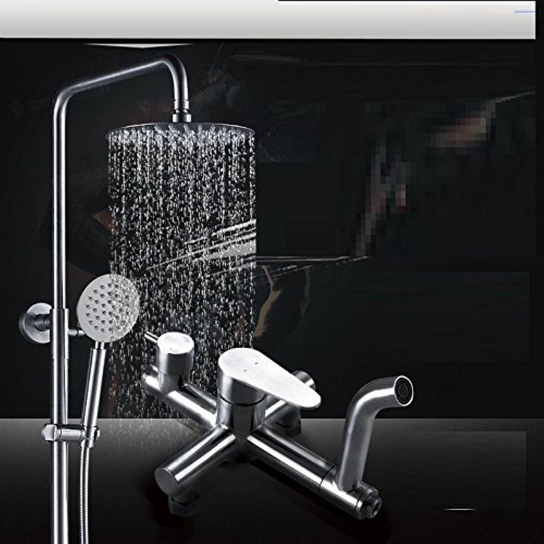 Edelstahl Dusche Anzug Drei Funktion Dusche Bleifrei Booster Ultra Thin Düse Zeichnung