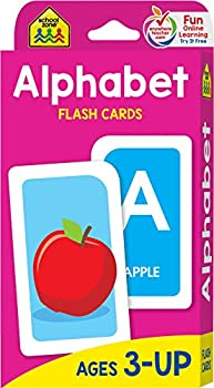 School Zone - Alphabet Flash Cards - Ages 3 and Up Preschool Letter-Picture Recognition Word-Picture Recognition Alphabet and More