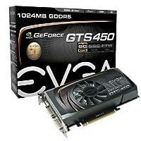 EVGA GeForce GTS 450SuperClocked 1024MB gddr5PCI Express 2.02dvi / Mini - HDMI SLI Readyグラフィックスカード、01g-p3–1452-tr