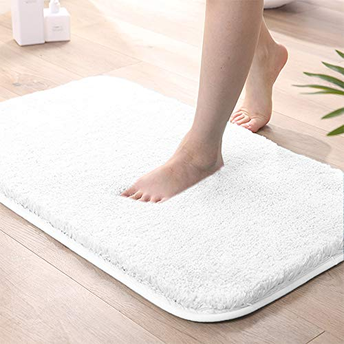 """GuLL Indoor Doormat Absorbent Mud Mat, Magic Non Slip Door Mat Dirts Trapper Mat, Entrance Doormat for Bathroom, Front, Inside and Entry Washable Rug (White, 20""""x32"""")"""