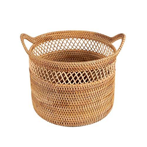Wasserij Mand XINYALAMP Grote Rotan Geweven Rieten Mand Met Handvat, Huishoudelijke Of Decoratieve Plant Mand