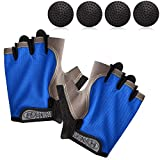 TOBWOLF Basketball Dribble Gloves, Finger Training Anti Grip Basketball Gloves for Adults, Basketball Training Aids Exercise Gloves for Enhancing Finger Control Ball Ability - Blue