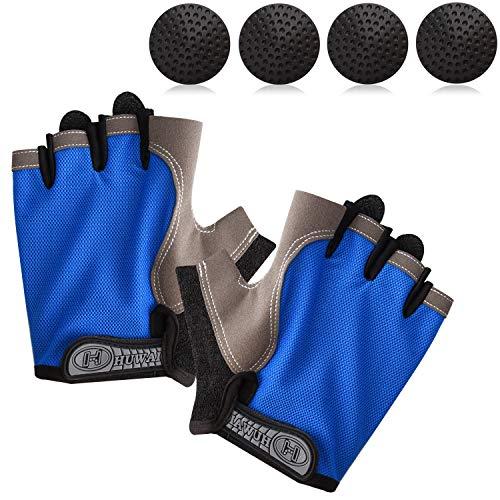 TOBWOLF Basketball Dribble Gloves, Finger Training Anti Grip Basketball Gloves for Adults, Basketball Training Aids Exercise Gloves for Enhancing Finger Control Ball Ability - Blue