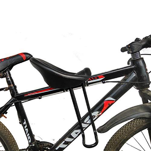 AMAZOM Vélos Coffre Siège pour Les Enfants des Enfants des Enfants, Porte-bébé Montage Avant vélo Siège avec pédales - Idéal pour Adulte Vélo et VTT Fixation - Noir,XL10CM on